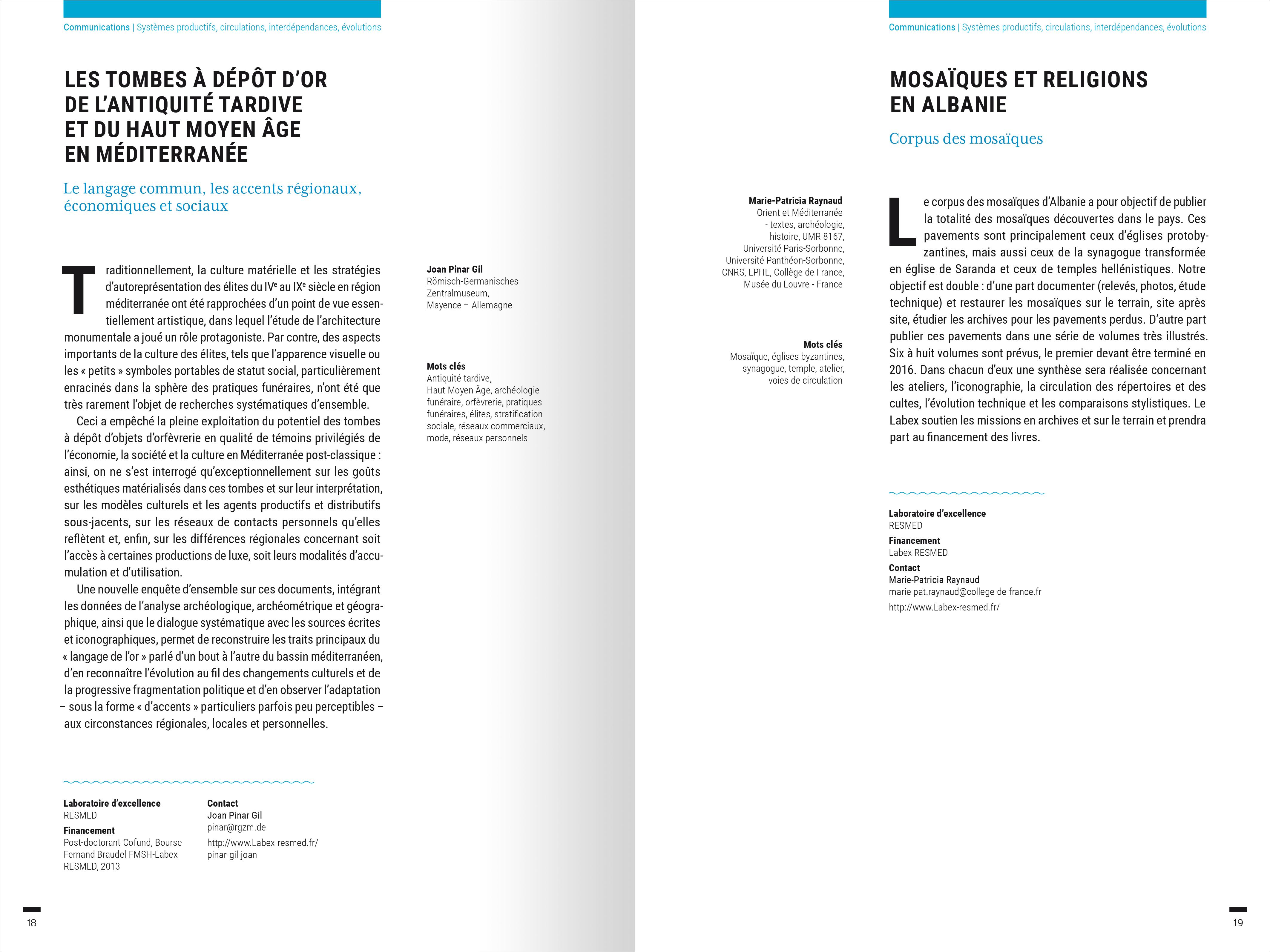 Panorama des recherches en Sciences sociales